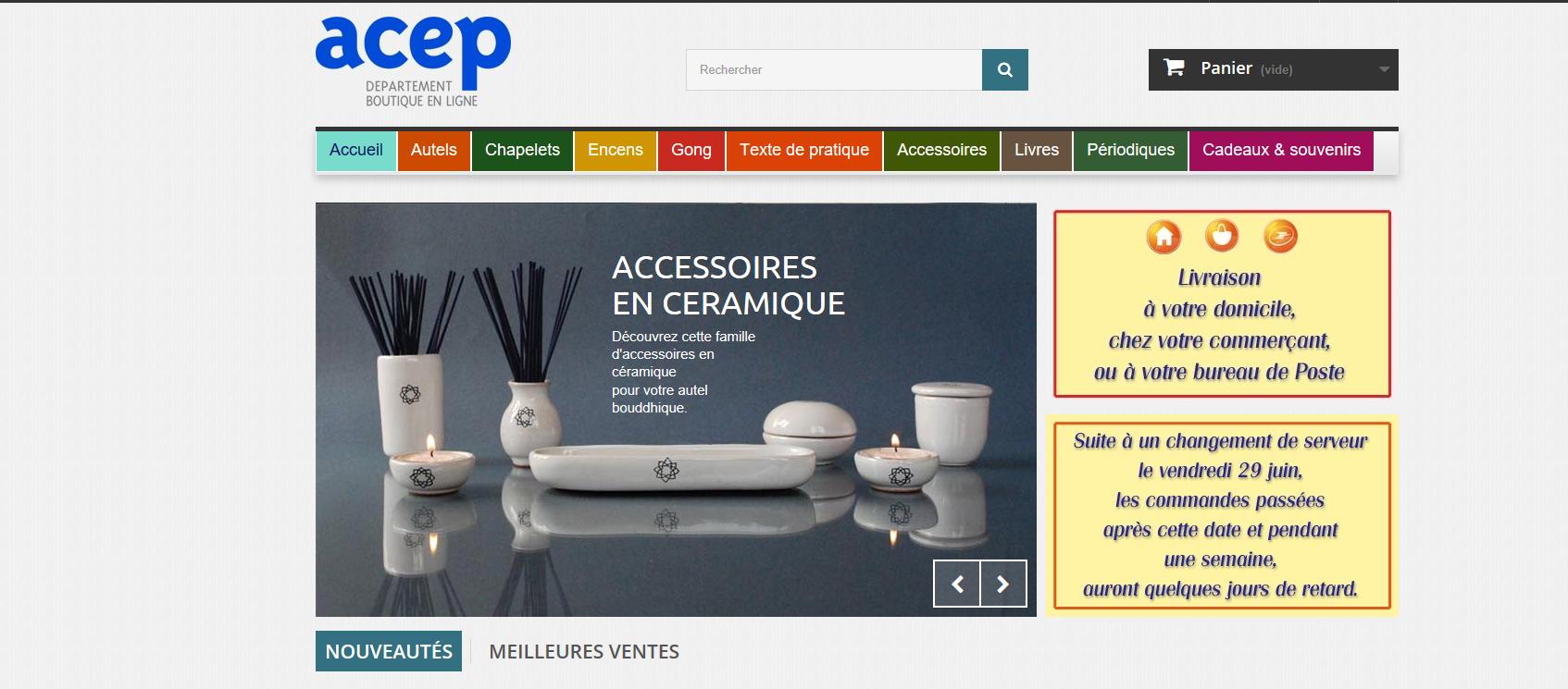 Connexion réussie pour Acep entre sa gestion commerciale Sage et son site ecommerce PrestaShop