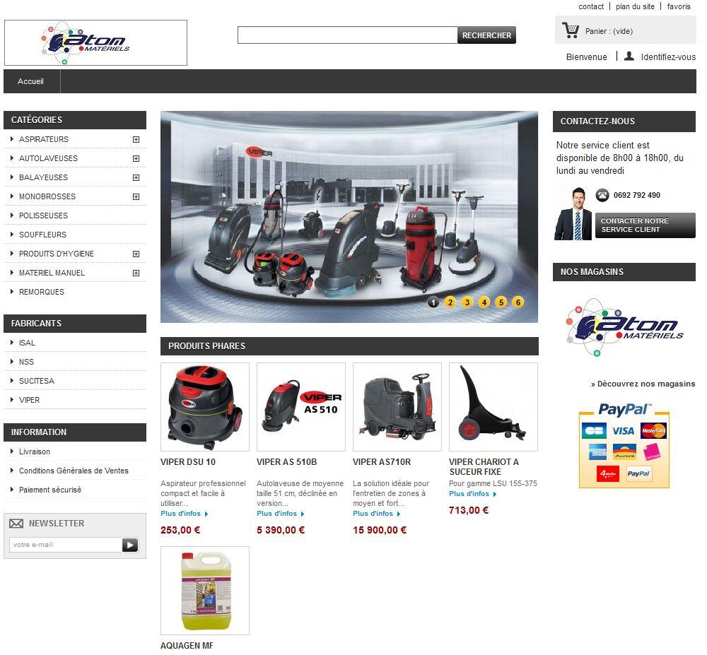 Connexion réussie pour Atom Materiels entre sa gestion commerciale Sage et son site ecommerce PrestaShop
