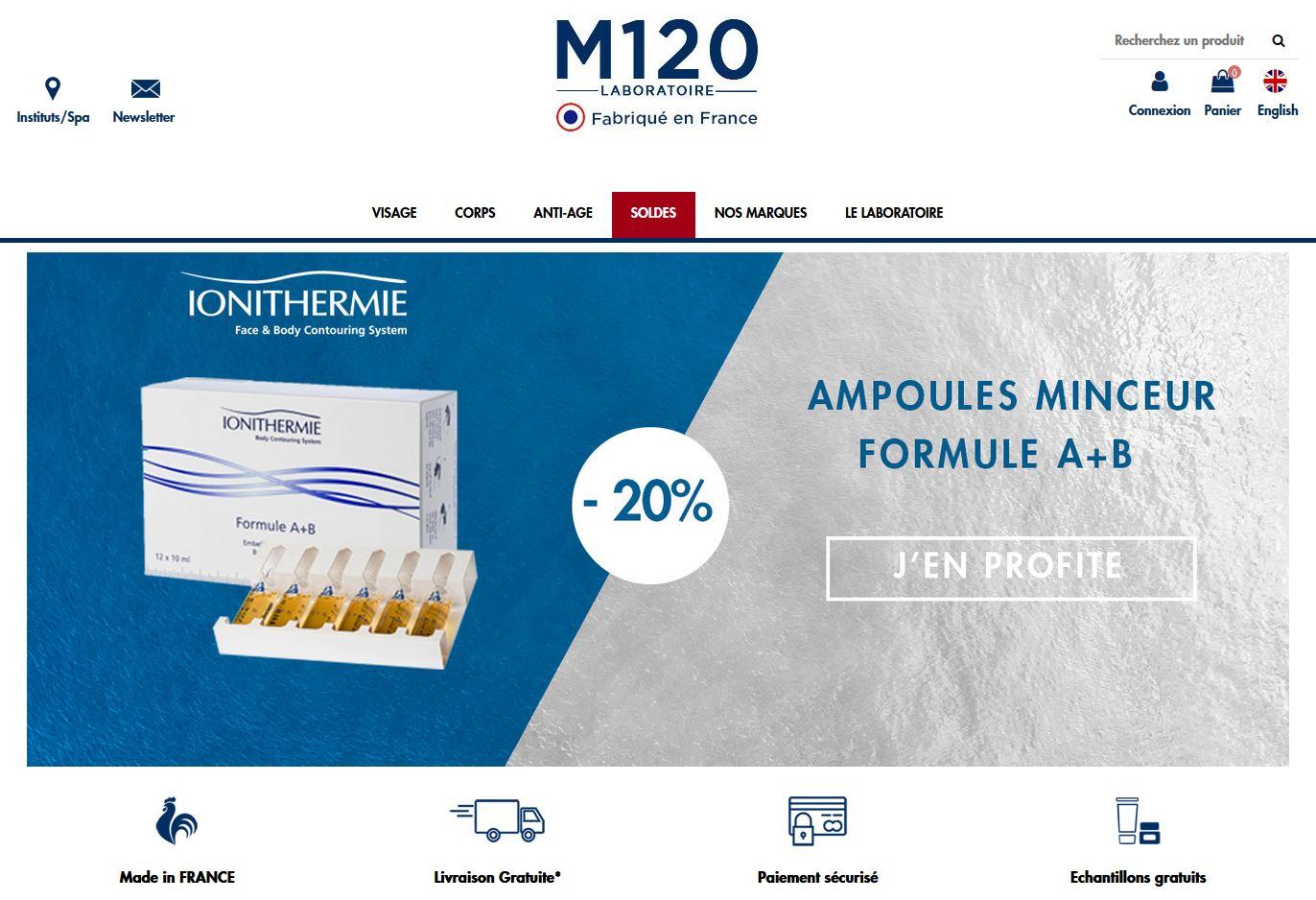 Connexion réussie pour Laboratoire M120 entre sa gestion commerciale Sage et son site ecommerce PrestaShop