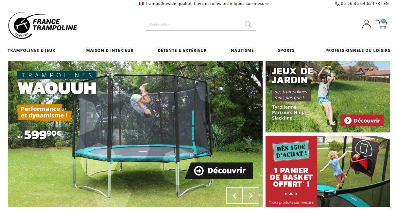 Connexion réussie pour France Trampoline entre sa gestion commerciale Sage et son site ecommerce PrestaShop