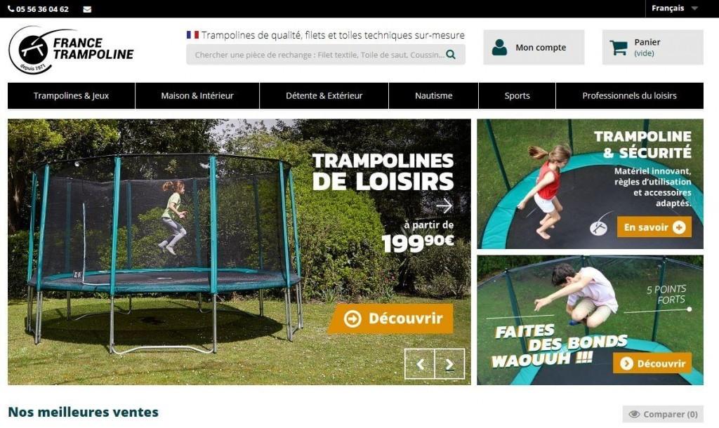 France Trampoline utilise le connecteur Atoo-Sync GesCom 100 Objets Métiers pour se connecter à PrestaShop