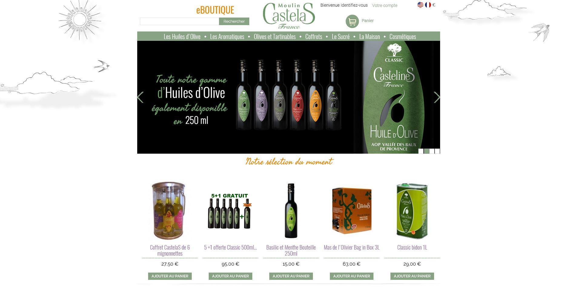 Connexion réussie pour Moulin Castelas entre sa gestion commerciale Ciel et son site ecommerce PrestaShop