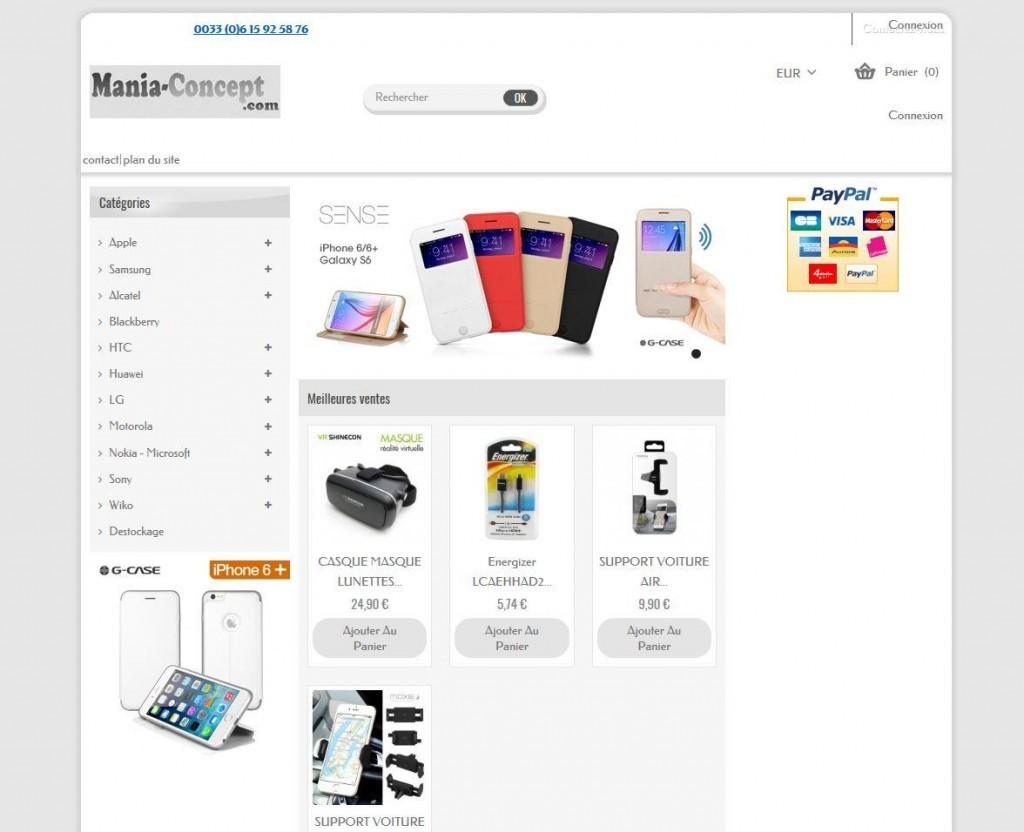 Mania Concept utilise Atoo-Sync GesCom Ciel pour lier son PrestaShop