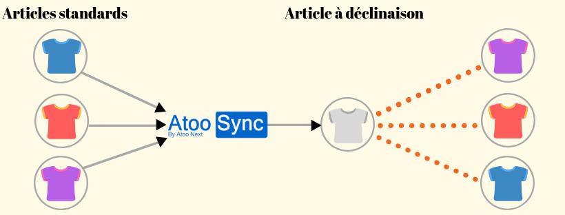 Passez d'un article standard à un article à déclinaisons