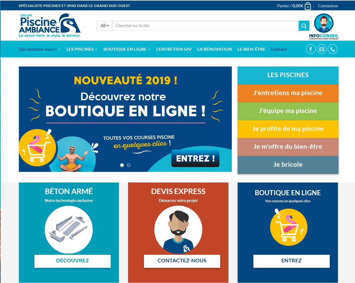 Connexion réussie pour Piscine Ambiance entre sa gestion commerciale Sage et son site ecommerce Woocommerce