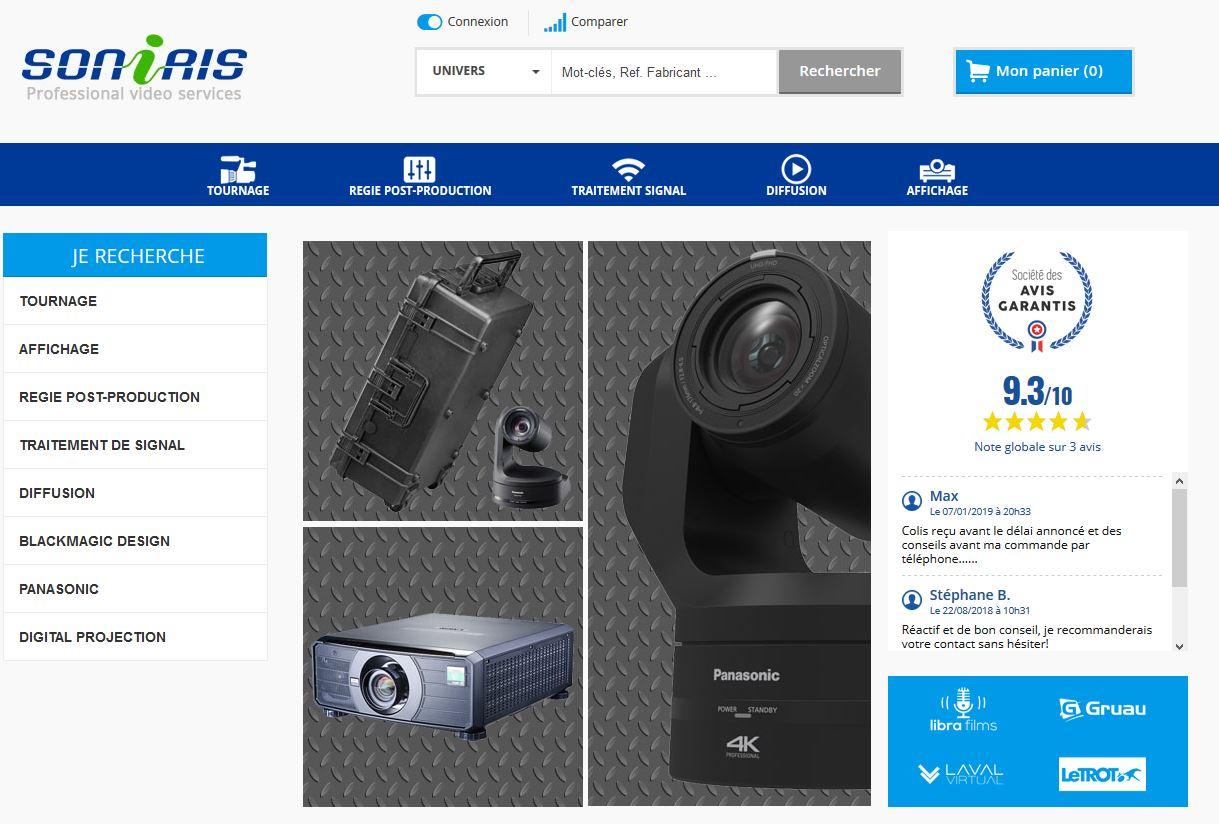 Connexion réussie pour Soniris entre sa gestion commerciale Ciel et son site ecommerce PrestaShop