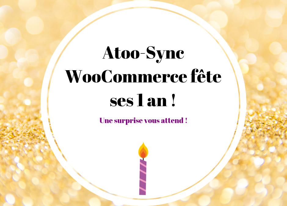 anniversaire Atoo-Sync pour WooCommerce