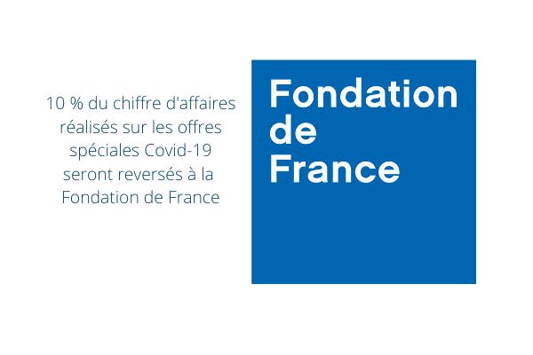 Atoo Next solidaire de la Fondation de France. 10% de son CA sur les offres spéciales Covid-19 seront reversés à la Fondation de France. Pour soutenir les actions d'aide aux personnels soignants, soutenir la recherche médicale et soutenir les plus fragiles.