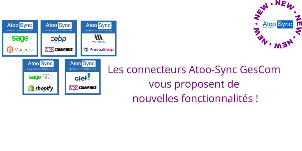 Passerelle Atoo-Sync GesCom pour connecter votre boutique ecommerce avec votre logiciel de gestion