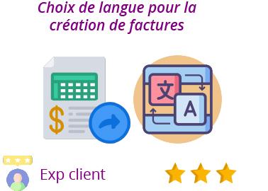 fonctionnalité choix langues facture